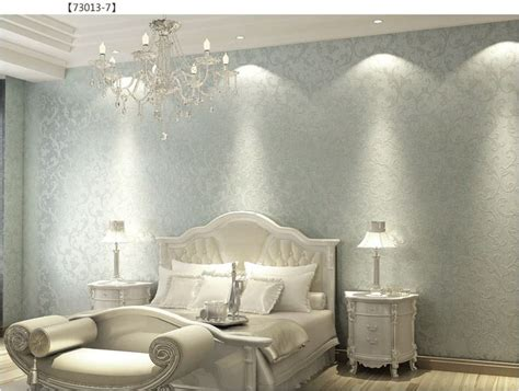 walpaper vintage european silver  woven bedroom