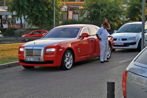 red rolls royce ghost  rare  exclusive  rolls