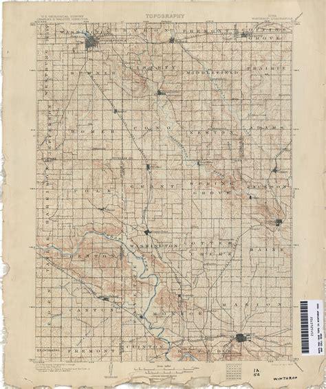 Winthrop Iowa Map