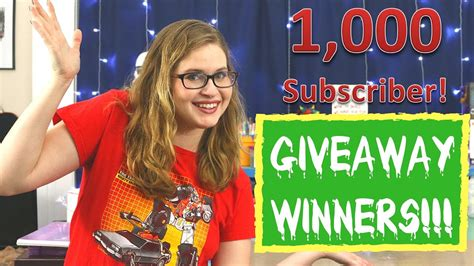 1,000 SUBSCRIBER WINNERS ANNOUNCED! - YouTube