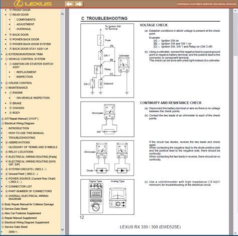 old car repair manuals 2004 lexus gx user handbook lexus rx350 rx330 rx300 pdf manual