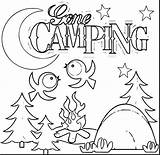 Camping Coloring Pages Theme Printable Sheets Backpack Getcolorings sketch template