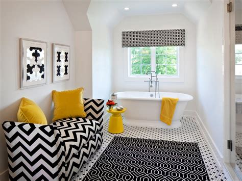 black white and yellow bathroom amazing black white and yellow bathroom decor with bathtub furnished with nightstand and sofa