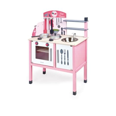 maxi cuisine mademoiselle janod cuisinière en bois la maxi cuisine mademoiselle jeux et jouets janod avenue des jeux
