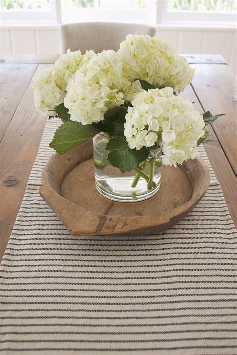 hydrangea  farmhouse table table centerpieces  home