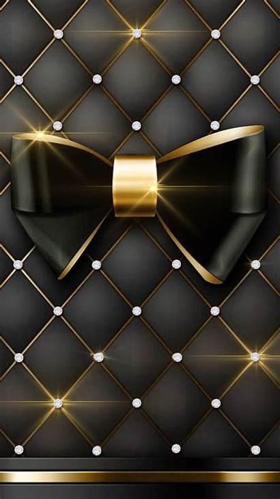 Diamond Luxury Cushion Classy Bow Dark Iphone
