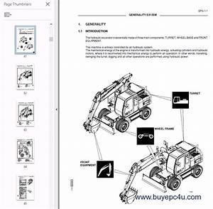 Fiat Hitachi Excavators Ex135w Pdf Workshop Manual