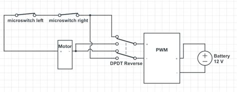 switches circuit with reversing polarity and two microswitches electrical engineering stack