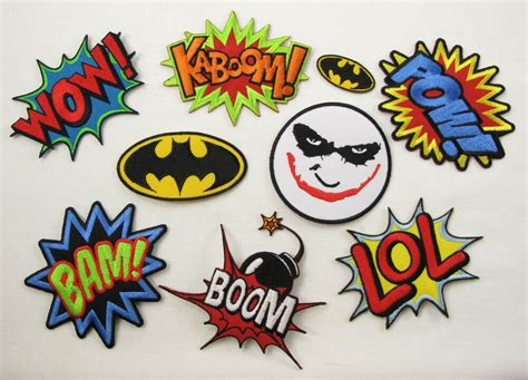 Batman Joker Pow Kaboom Bam Wow Boom Lol Iron Sew On
