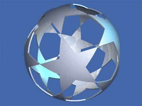 how to make 3d star and balls 3d models free free metallic logo chions 3d