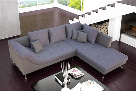 canapé d angle cuir et tissu canapé d 39 angle design palma cuir pu et tissu design