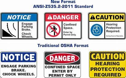 Ansi Safety Signs Workplace Z535 Standards Standard