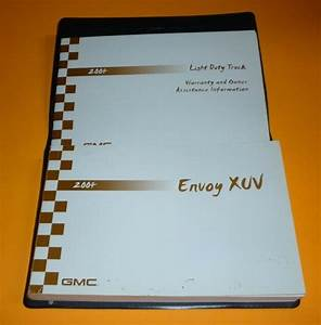 2004 Gmc Envoy Xuv Owners Manual Set Guide 04 W  Case Sle