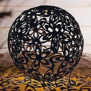 Solarkugel 40 Cm : solarleuchte blumenkugel 40 cm durchm metall bronze ~ Watch28wear.com Haus und Dekorationen
