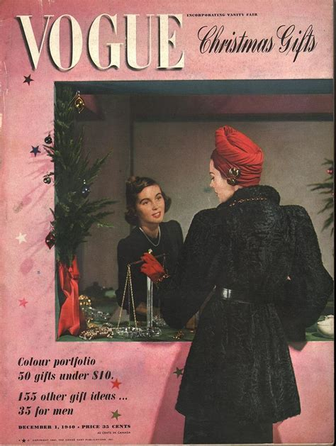 Vogue December 1 1940 | Vintage vogue covers, Vogue covers ...