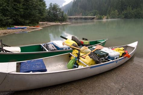 Skiff Lake Boat Launch by Boat In Cing Cascades National Park U S