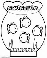 Aquarium Coloring Pages Fishes Colorings sketch template