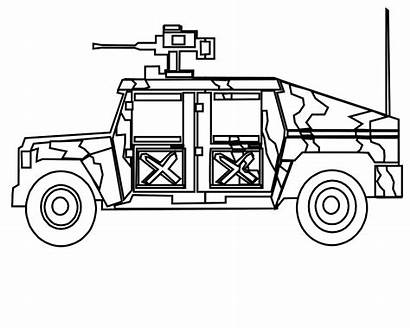 Coloring Pages Military Truck Vehicles Sheets Army