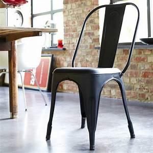 Chaise Style Industriel : achat chaise metal style industriel pour salon tikamoon ~ Teatrodelosmanantiales.com Idées de Décoration