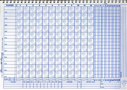 Baseball Score Scorebook Scorecard Softball Keeping Sheet
