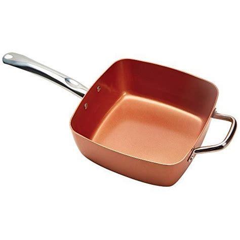 copper chef pan copper chef   square nonstick pan       stove