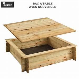 Bac à Sable Bois : bac sable bois carr avec couvercle burger jardipolys ~ Premium-room.com Idées de Décoration