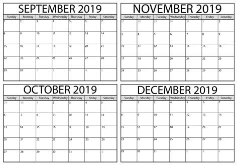 blank september  october  calendar printable net