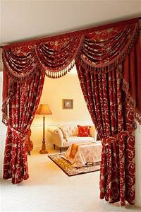 This Decadent Rich Red Curtain Set Will Transform Your
