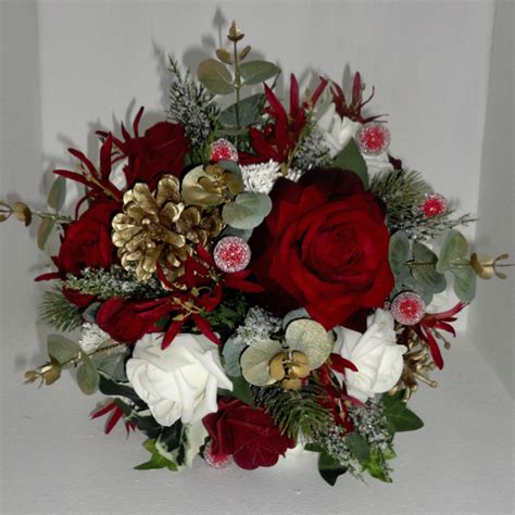 Christmas And Winter Wedding Bouquets