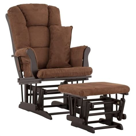 Chocolate Glider And Ottoman by Glider And Ottoman In Black And Chocolate 06554 59b