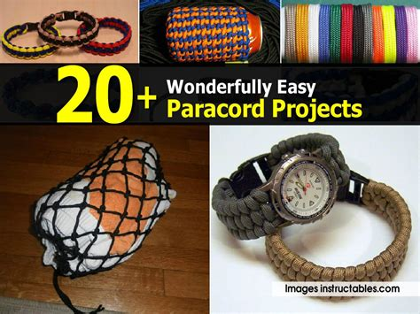 wonderfully easy paracord projects