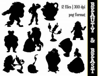 Silhouette Belle Clipart Beauty Clip Beast Disney