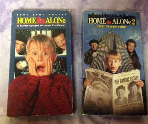 Home Alone 2 Vhs Lot Macaulay Culkin Lost In New York Christmas Holiday Classic Macaulay