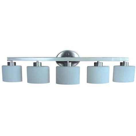 lowes bathroom light fixtures brushed nickel shop allen roth 5 light merington brushed nickel
