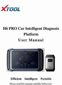 Xtooltech H6pro Car Intelligent Diagnosis User Manual