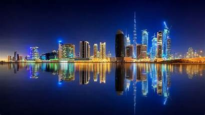 8k 4k Dubai Wallpapers Desktop Water Reflection