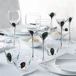Verre A Pied Noir : set de 4 verres pied 35 cl drip noir 9222202 achat ~ Teatrodelosmanantiales.com Idées de Décoration