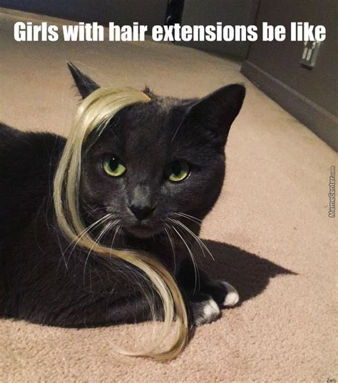 Hair Extension Meme - girls with hair extensions by laizakas meme center