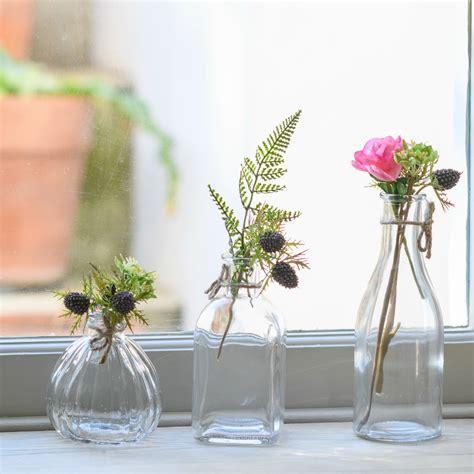 Bottles Retro Glass Flower Bud Vases Flower Studio Shop