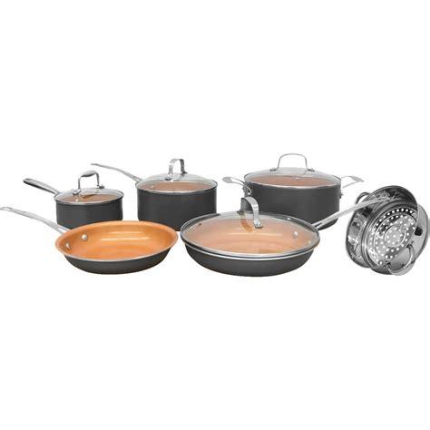 gotham steel black cookware set  pc ceramic cookware set cookware set ceramic cookware