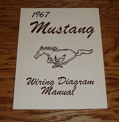 1967 ford mustang wiring diagram manual 67 ebay