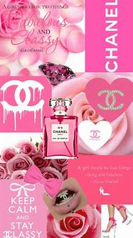 chanel, pink, and Collage image   Chanel wallpapers, Pink ...