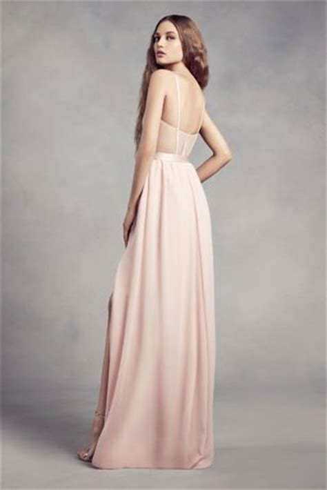 charmeuse  chiffon bridesmaid dress davids bridal