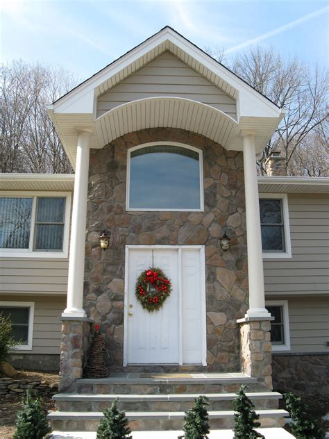 front entry portico remodeling projects   jersey design build planners