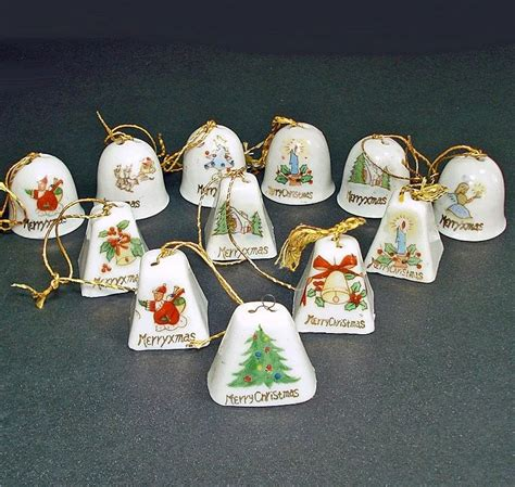 japanese ceramic christmas ornament 1950 box 1950s japan miniature porcelain bells ornaments copperton antiques and