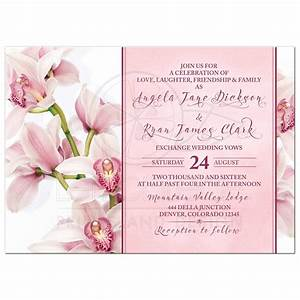 orchid wedding invitation elegant pink burgundy With free printable orchid wedding invitations