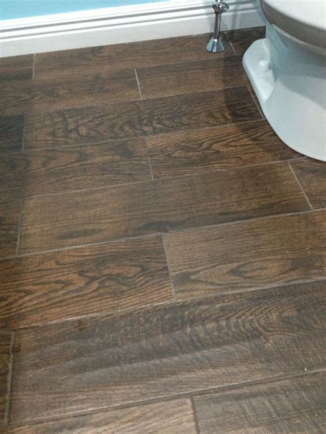 Home Depot Tile Look Like Wood by Porcelain Wood Look Tile In Upstairs Bathroom Home Depot