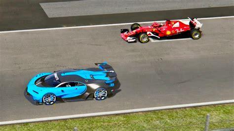 Ferrari F1 2017 Vs Bugatti Vision Gran Turismo