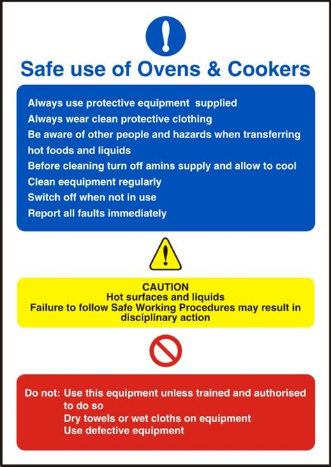 safe   ovens cookers health  safety sign scs