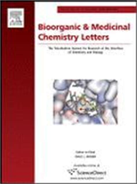 bioorganic and medicinal chemistry letters bioorganic and medicinal chemistry letters evisa s 28529